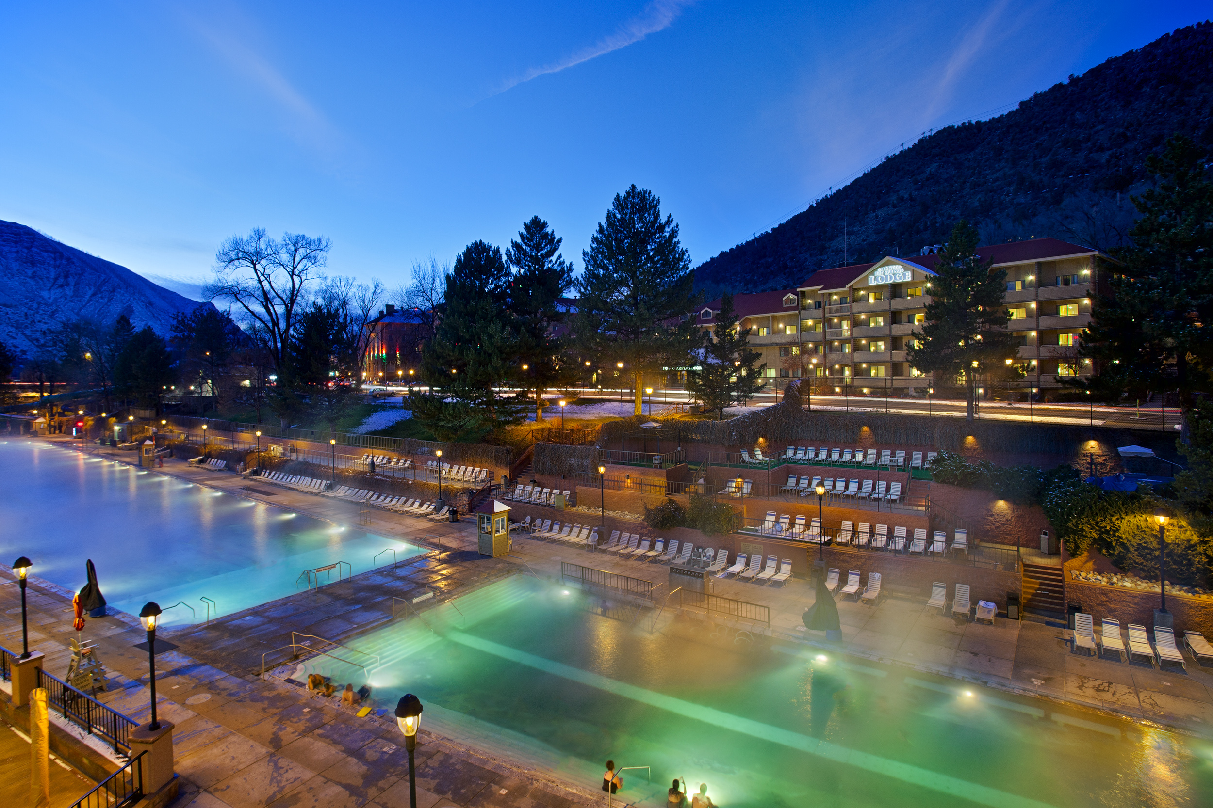 Glenwood Hot Springs In The Evening