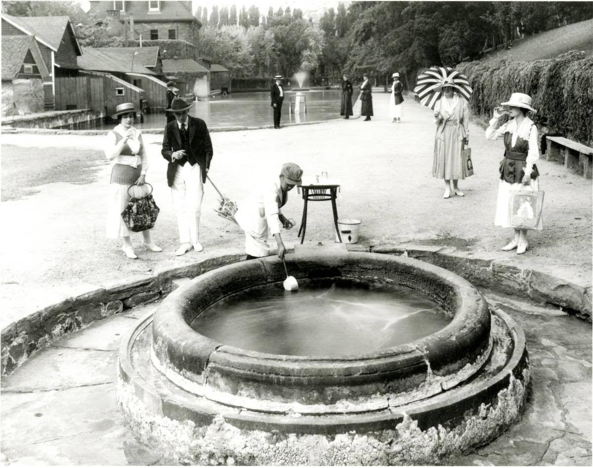 Hot Springs History Scooping Water From The Source