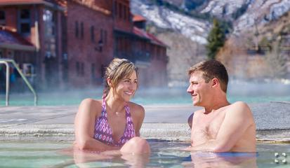 Glenwood Hot Springs Pool In Glenwood Springs Colorado