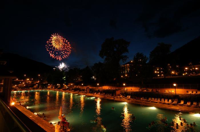 Fireworks over Glenwood Hot Springs